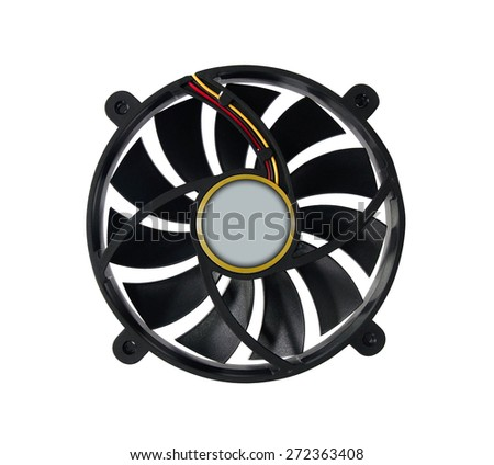 Computer fan isolated on a white - stock photo