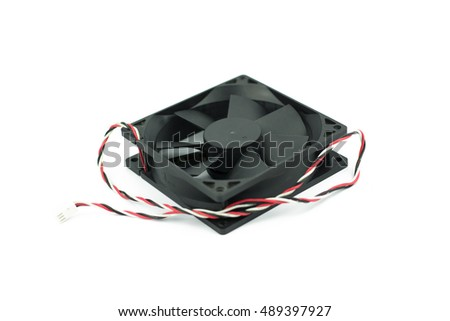 Computer fan isolated on a white background