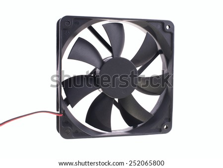 computer fan isolated on white background with clipping path - stock photo