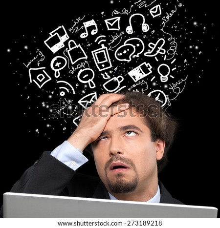 Computer, Frustration, Problems. - stock photo