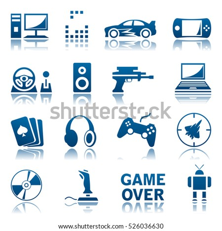 Computer games icon set