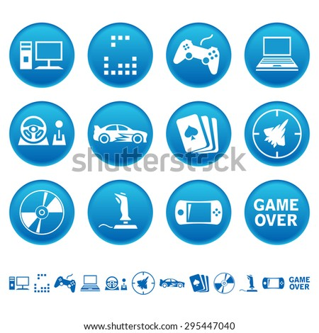Computer games icons - stock photo
