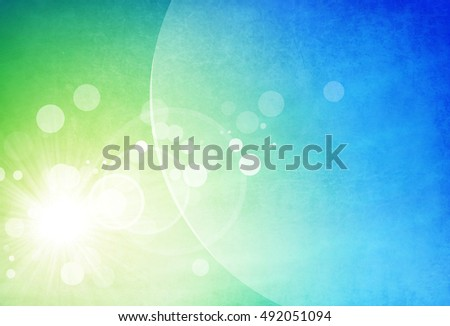 Computer generated background with shapes, blurs, motion an light effects