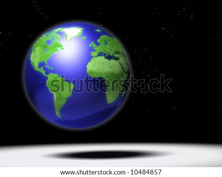 Computer generated Earth globe