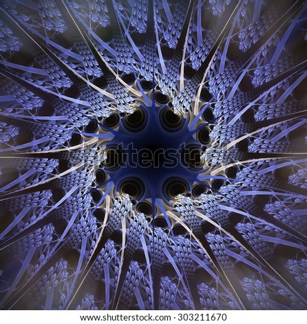 Computer generated fractal artwork for design - stock photo