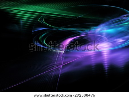 Computer Generated Fractal Line Dinamic Background Stock
