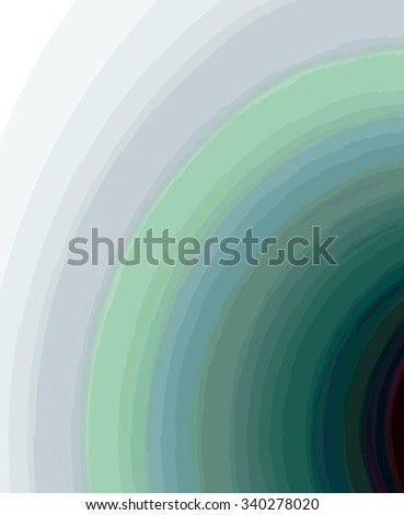 Computer-generated graphic of crazy quarter circles with message space make up a colorful funky fractal background. - stock photo