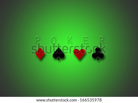 computer generated green poker gradient stripes background illustration