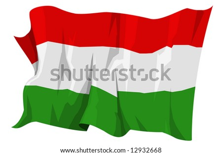 Computer generated illustration of the flag of Hungary
