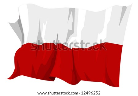 Computer generated illustration of the flag of Poland