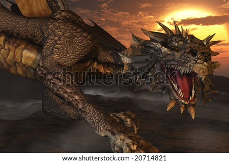 Computer Generated Image Of A Dragon