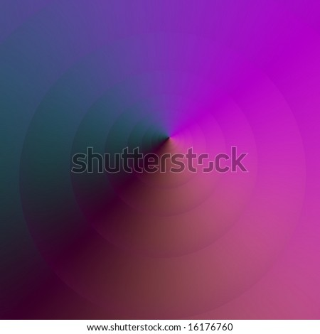 Computer generated image with a cone design in purple.