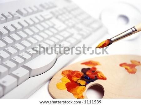 computer graphic design - stock photo