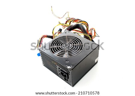 Computer hardware power supply disconnect . - stock photo