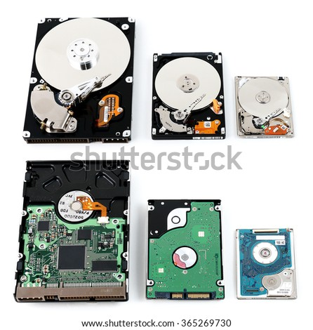 Computer HDD Form Factors - stock photo