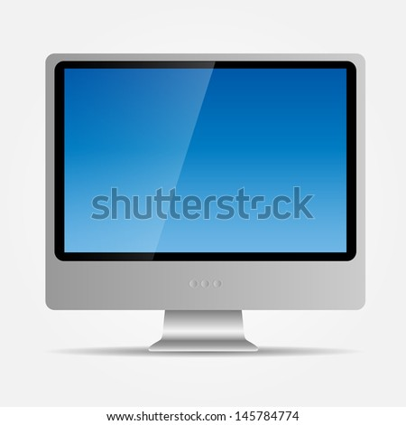 Computer icon  illustration. - stock photo