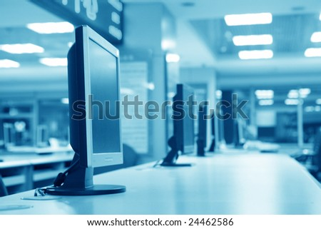 computer in lab - stock photo