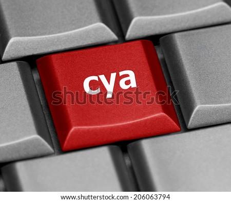 Computer key - cya - stock photo