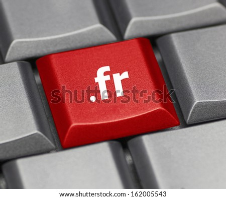 Computer key - Internet suffix of France