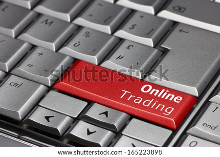Computer Key - Online trading - stock photo