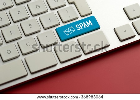 Computer key showing the word SPAM - stock photo