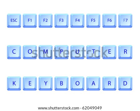 computer keyboard abstract concept, art illustration; for vector format please visit my gallery - stock photo