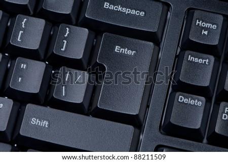 Computer keyboard buttons closeup. - stock photo
