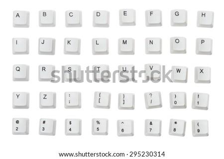 Computer Keyboard, Computer Key, Alphabet. - stock photo
