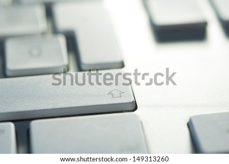 computer keyboard detail, top view