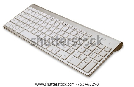 Computer Keyboard for typing on white