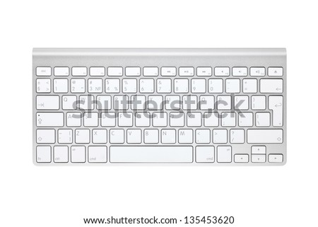 Computer keyboard. Isolated on white background - stock photo