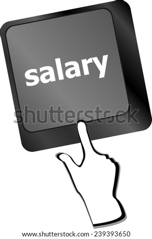 computer keyboard keys with salary button - stock photo