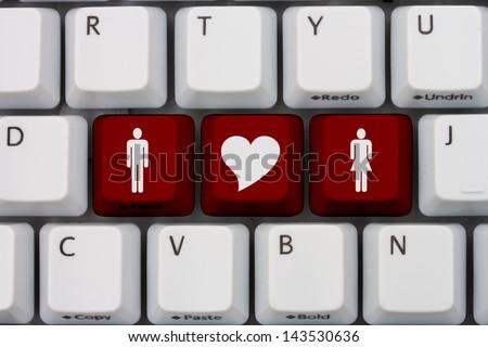 Computer Keyboard Keys Symbols Man Woman Stock Photo Royalty Free