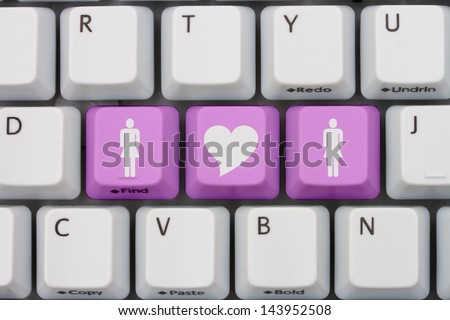 Computer Keyboard Keys Symbols Woman Woman Stock Photo Royalty Free