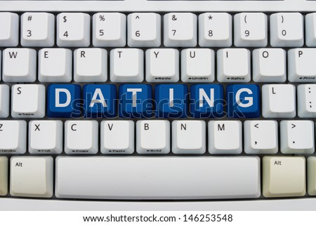 Computer keyboard keys with word Dating, Finding love online