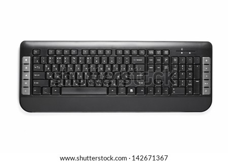computer keyboard on a white background