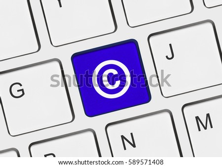 Computer keyboard with Copyright symbol - business concept