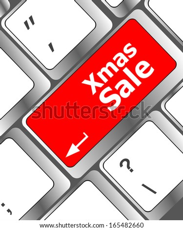 Computer keyboard with holiday key - xmas sale