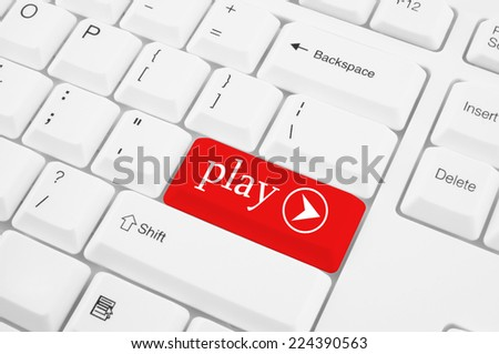 Computer keyboard with play key