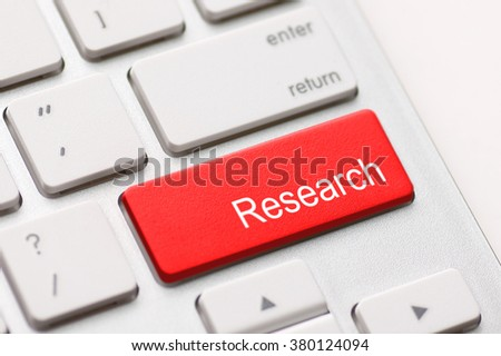 Computer keyboard with research key.