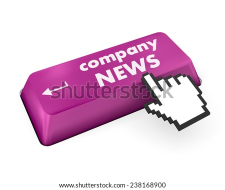 computer keyboard with word Company News - stock photo