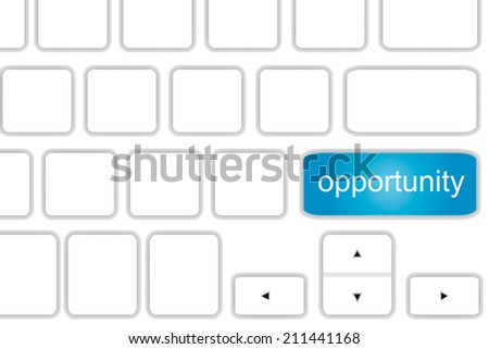 Computer keyboard with word  opportunity . - stock photo