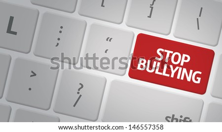 Computer keyboard with word Stop Bullying - stock photo