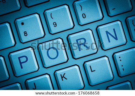 Computer keys concept of internet online or cyber porn  - stock photo