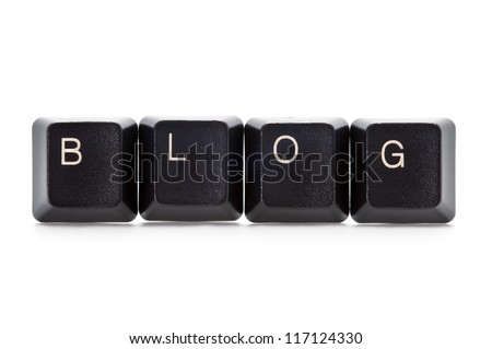computer keys spelling the word blog - stock photo