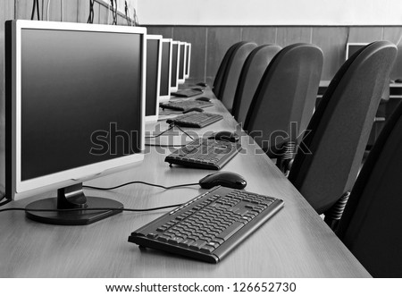 computer lab - stock photo