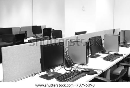 Computer lab. - stock photo