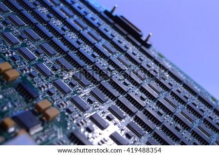 Computer Main Board / Motherboard  - stock photo