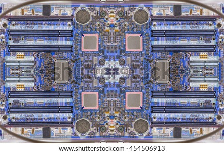 Computer mainboard panel texture background