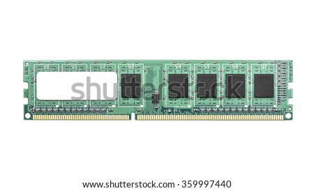 Computer memory isolated on a white background. - stock photo